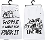 Primitives by Kathy Camper Towel Bundle - Park It and Happy Campers