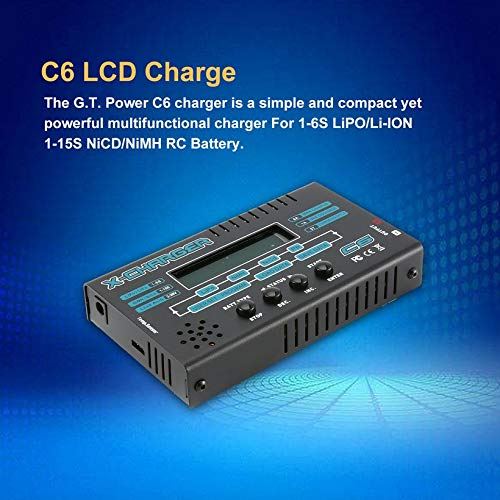 Wikiwand G.T.Power C6 LCD Charger for 1-6S LiPO/Li-ION 1-15S NiCD/NiMH RC Battery