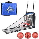Vicoki Wall-Mount Basketball Scoring Play Toy + 3 Basketball + Pump Kids Sport Shot Hoops Toys