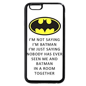 UniqueBox - Customized Personalized Black Soft Rubber(TPU) iPhone 6+ Plus 5.5 Case, The Joker, Batman Logo, Batman iPhone 6 Plus case, Only fit iPhone 6+ (5.5 Inch)