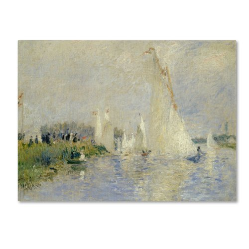 Regatta at Argenteuil 1874 Artwork by Pierre Renoir, 24 by 32-Inch Canvas Wall Art
