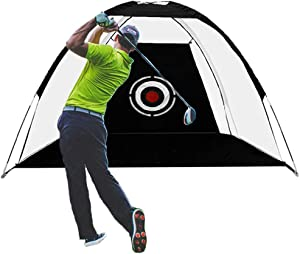 JARDIN Golf Net Hitting Net for Backyard Driving Golf Simulators for Home Indoor Use Outdoor Sports Golf Training Aids with Target Carry Bag