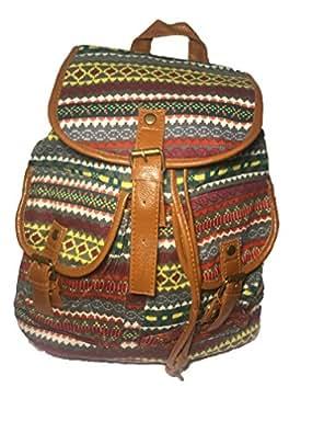 Mochila etnica mujer famosas hippies cuero | Mochila Etnica | Mochila Casual pequeña unisex hombre y mujer. Colorines: Amazon.es: Zapatos y complementos