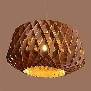 Luz de Techo Lámpara de araña Luz de piña Forma de Madera de ...