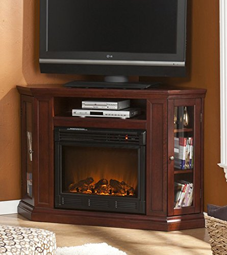 Cherry Media Console Electric Fireplace TV Stand