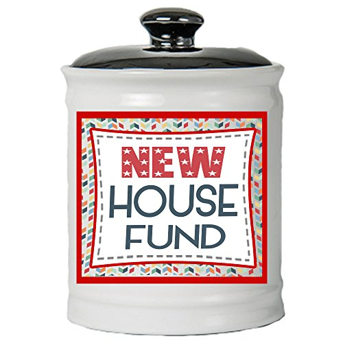 Cottage Creek House Gifts New House Fund Jar Moving Piggy Bank New House Coin Bank/Fun Gifts [White] ()