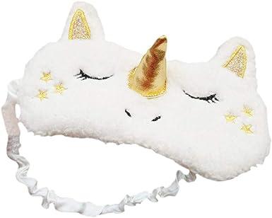 Travel Eye Mask Unicorn Sleep Mask Silk Backed Soothing Eye Mask Travel Gift Kawaii Sleeping Mask Sleep Aid Relaxing Eyewear