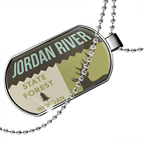 Dogtag National US Forest Jordan River State Forest Dog tags necklace - Neonblond by NEONBLOND