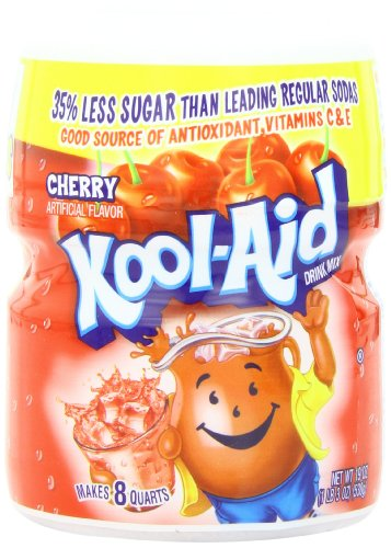 (Kool-Aid Flavored Drink Mix, Sugar Sweetened Cherry, 19 Ounce Container (Pack of 12))