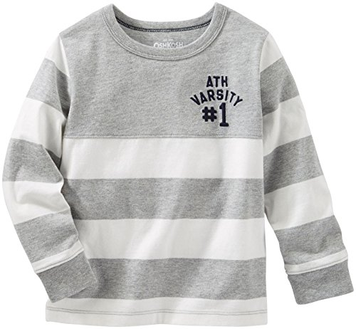 Pieced Rugby Shirt (OshKosh B'Gosh Boys' Knit Tee 21480310, Stripe, 4T)