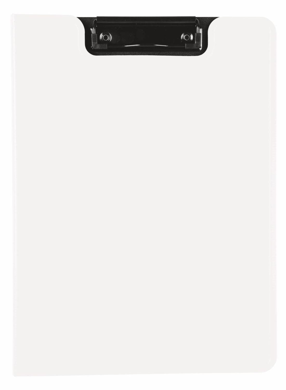 Alassio 0075 Klemmbrett aus Kunststoff Anlegeschiene und abnehmbaren Taschenrechner Brett mit Klemme ca 35 x 23 cm silber