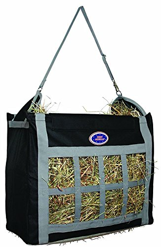 "Derby Originals Nylon Top Load Hay Bags, 24"" x 19"" x 10"", Black/Gray"