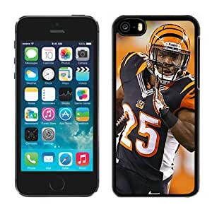 American Football Player Giovani Bernard Number-25 Number-25 03 Black Abstract iPhone 5C Phone Case
