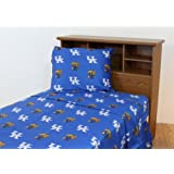 College Covers Kentucky Wildcats Printed Solid Sheet Set, King
