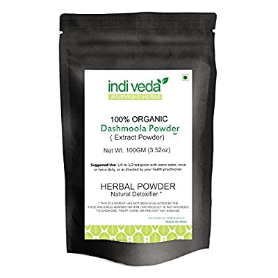 Indiveda 100% organic Dashamula Powder 10.58 Oz for pacifying vata and supporting proper function of the nervous system*