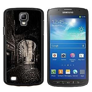 TaiTech / Prima Delgada SLIM Casa Carcasa Funda Case Bandera Cover Armor Shell Wood Texture - Calle Vieja Ciudad Medieval - Samsung Galaxy S4 Active i9295