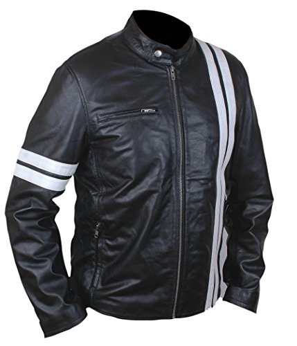 (F&H Boy's Driver San Francisco John Tanner Gaming Genuine Leather Jacket XL Black)