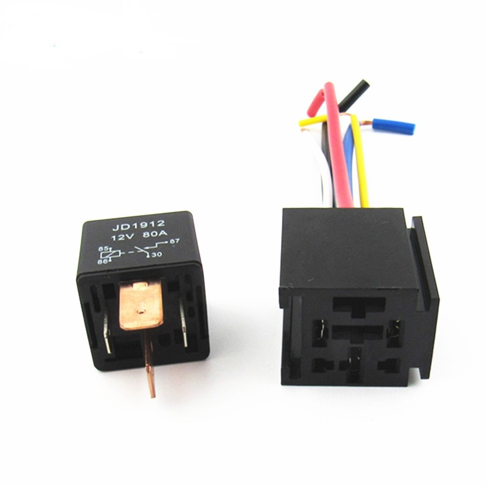 Amazon.com: Wanheyaog Car Truck 4-Pin 80A 12V On/Off ... on