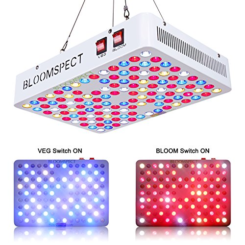 BLOOMSPECT 600W LED Grow Light for Indoor Greenhouse Hydroponic Plants Veg Bloom Switches Daisy Chain by BLOOMSPECT