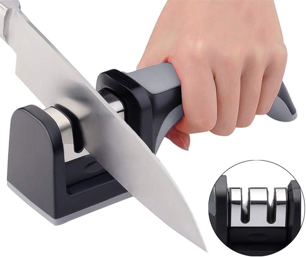 Creative-Messerschärfer, Küche Professionelle Diamant-Schnell Professional 3 Stages Sharpener Messerschärfwerkzeuge Schleifstein,C E