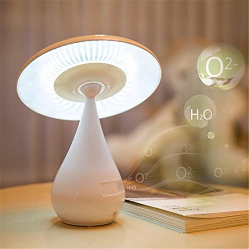 LED Mushroom Lamp USB Recharge Negative ion Air Purifier by Lights CC