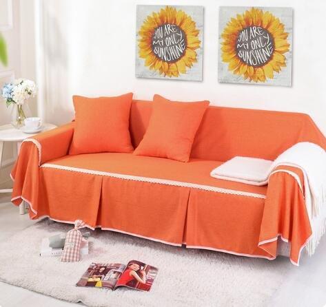 Fiesta Funda de sofá de lino Funda de poliéster Funda de sofá gris Funda antideslizante para toalla de sofá...