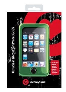 LoveMyTime - Carcasa de silicona de color verde y protector de pantalla para Apple iPhone 3G y 3GS
