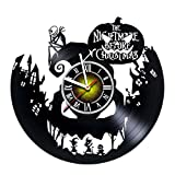 Toffy Workshop Nightmare before Christmas Vinyl Record Wall Clock – Exciting guestroom decor idea for children, adults, men and women – Jack and Sally – Horror Decorations Unique Art Design – Poster For Sale