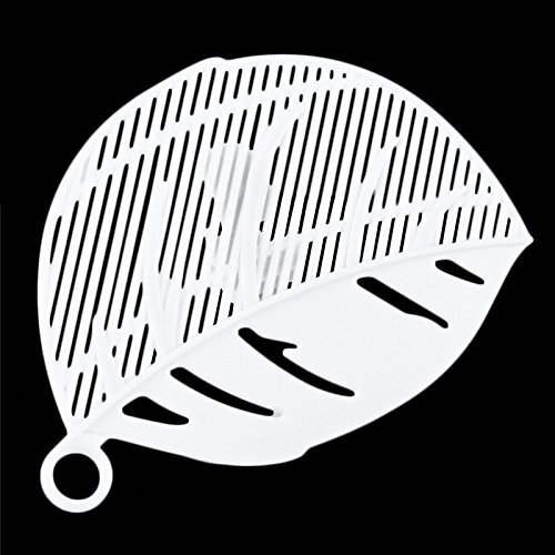 Leaf Shape Strainer - SODIAL(R)1PC Durable Clean Leaf Shape Rice Strainer Sieve Beans Peas Cleaning Gadget Strainer for Kitchen Clips Tools £¨white£