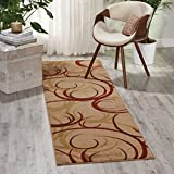 "Nourison Somerset (ST82) Beige Runner Area Rug, 2-Feet 3-Inches by 8-Feet  (2'3"" x 8')"