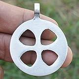OhDeal4U Celtic Sun Solar Cross Sunwheel Pewter