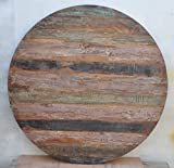 Reclaimed Wooden Coffee Table Top 48'' x 48'' x 1.5'' Round Rustic Solid Restaurant Furniture