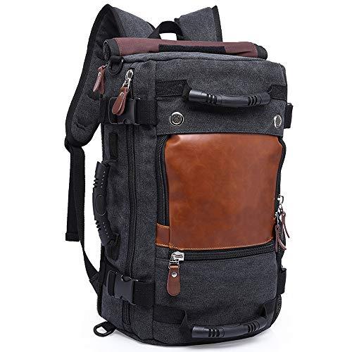 KAKA Backpack Fashion Unisex Travel Backpack Carry-On Bag Flight Approved Weekender Duffle Backpack Canvas Rucksack fit 15.6 inch Laptop (Best Kaka Shoulder Bags)