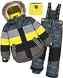 Deux par Deux Boys' 2-Piece Snowsuit Meteo Alert Yellow, Sizes 4-14 - 14