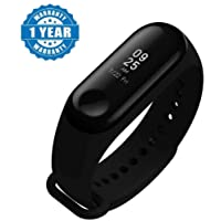 Captcha M3 Band Bluetooth 4.0 Sweatproof Smart & Sleek Fitness Wristband with Heart Rate Monitor Tracker