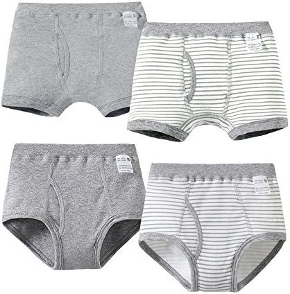 男の子 子供パンツ キッズ ブリーフ 下着 クサーパンツ 4枚セット 男児 綿100% シンプル 100-175㎝