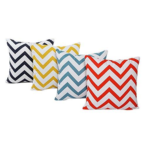 Tongshi Cama Inicio Alquiler Sofá decorativo ondulada Patrones almohada cubierta de la caja del amortiguador