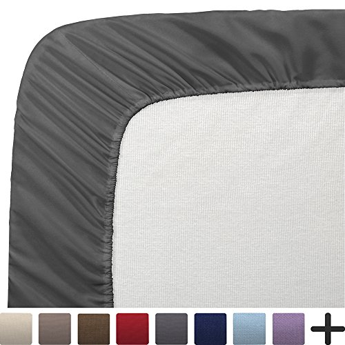 "Price comparison product image 2 Twin XL Fitted Bed Sheets (2-Pack) - Twin Extra Long, 15"" Deep Pocket, 39"" x 80"", (Twin XL, Grey)"