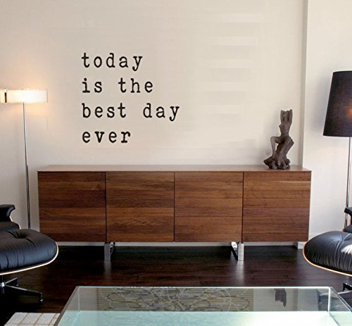 Today is the Best Day Ever Wall Decal, Wall Sticker, Laptop sticker Vinyl Decal, Wall, Car, Laptop - Burnt Orange - 10 inch