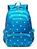 Kids Backpack for Girls Children Primary School Bags Bookbags for Studengts Child Durable Waterproof(Pure Blue)