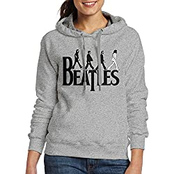 Bekey Women's The Beatles Abbey Road Hoodie Jacket XL Ash