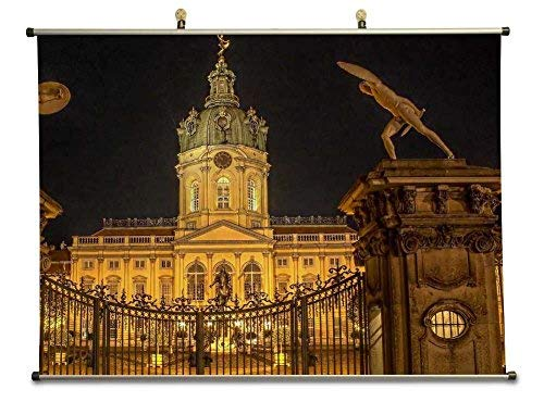 Tollyee Wonderful gate to charlottenburg Castle in Berlin - Canvas Wall Scroll Poster (28x20 inches)