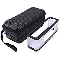 Hard Travel Bag Carrying Case with Soft Cover for Bose Soundlink Mini I and Mini II Bluetooth Speaker - Fits The Charger…