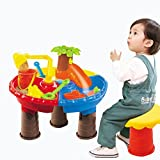 BQVIVYI 21PCS Waterpark Play Table Kids Girls Boys Beach Splashing Digging Tools Activity Playset