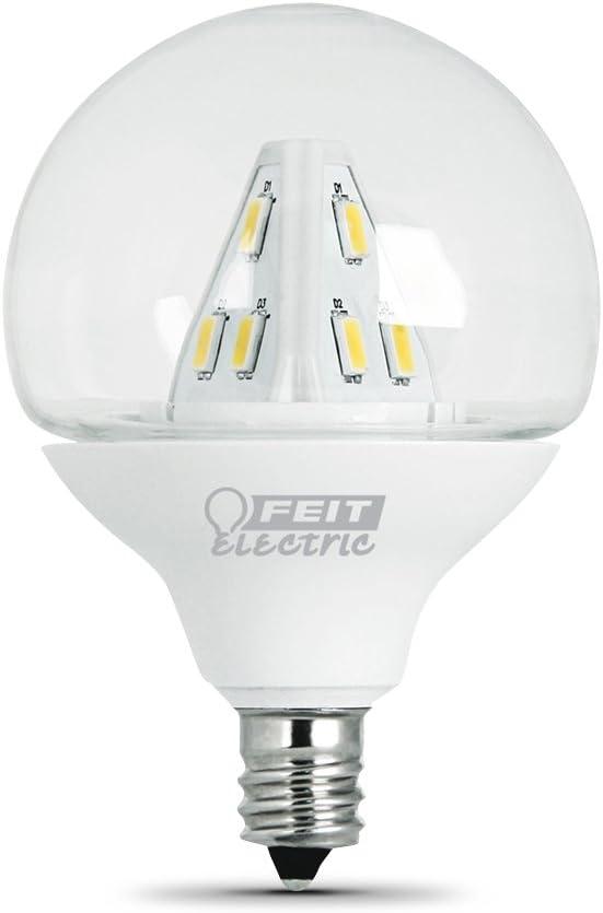 Feit Electric BPG161//2//CL//LED//RP Accent LED G161//2 Globe Bulb Clear