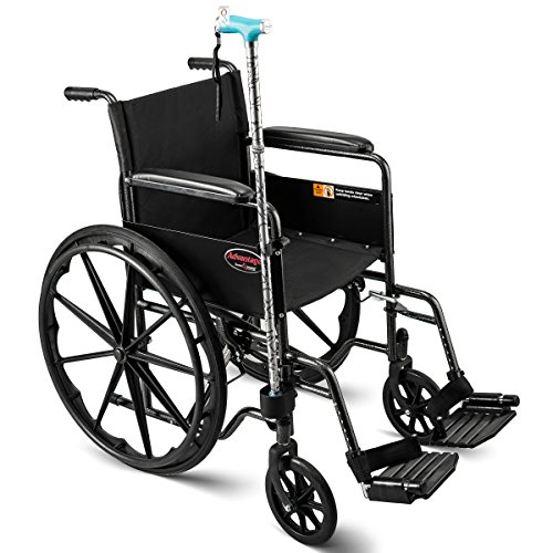 Bodyhealt Cane Holder for Wheelchairs, Rollators, and Crutches - Black by BodyHealt (Image #4)