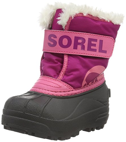 Sorel Kids' Commander-K Snow Boot, Tropic Pink, 4 M US Toddler
