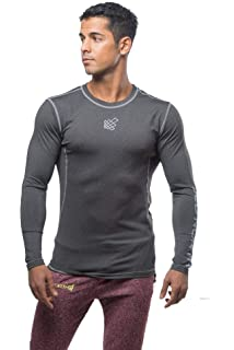 431e95708437 Jed North Men's Long Sleeve Tee Compression T Shirt Bodybuilding Workout  Slim Fit