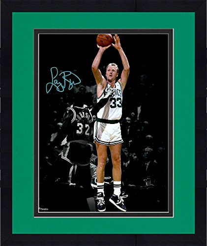 Framed Larry Bird Boston Celtics Autographed 11