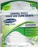 Dentek Dental Picks (Textured & Bristled for deep clean) with Fresh Mint, 100...
